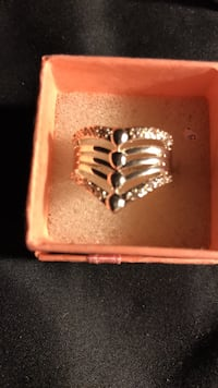 womens size 7 solid silver ring Virginia Beach, 23451