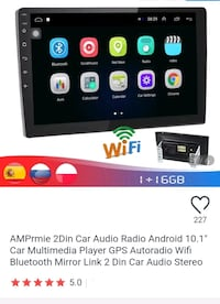 "Android Car Audio Multimedia Player w/10"" Screen"