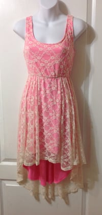 ARDENE Pink Lace Hi/Low Dress: Size Small Brampton, L7A