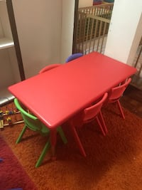 Toddler table with 6 chairs Takoma Park, 20912