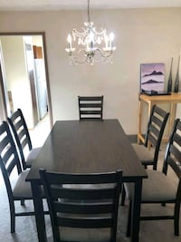 Dining table and chairs, Beds, sectional Sofa