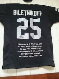 black and white Fred Biletnikoff jersey shirt Carson City, 89706