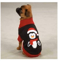 Zack & Zoey Holiday Penguin Dog Sweater, XX-Small, Black Mississauga, L5A 3B2