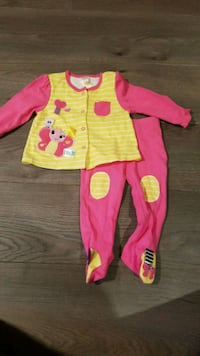 Pink and yellow butterfly outfit - 9 months