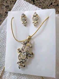 Chain pendant and earrings set. Aldie, 20105