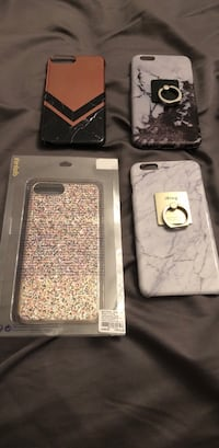 four assorted-pattern iPhone cases Vaughan