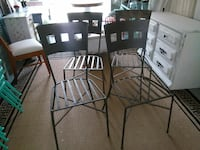 two black metal framed chairs Raleigh, 27612