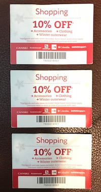 Discount coupons  列治文, V7C 3Y7