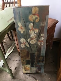 brown wooden framed painting of flowers Fairfax, 22030
