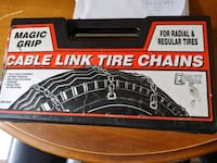 Adjustable tire chains