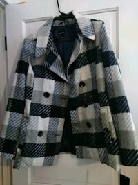 white and black button-up jacket Ontario
