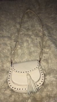 White leather handbag 64 km
