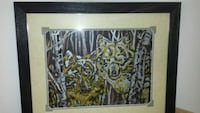 brown wooden framed painting of wolfs Elie, R0H 0H0