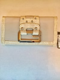 Genuine Guess trifold wallet -beige