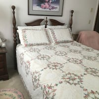 New Queen sized quilt with Battenberg Lace Ocklawaha, 32179
