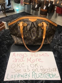 Authentic Louis Vuitton handbag being listed from Mitzys Purses and More- see us on Facebook