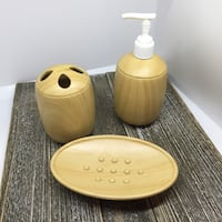Faux-wood Bathroom Set - 3 piece | EUC, SFPF home Ajax, L1T 0A9