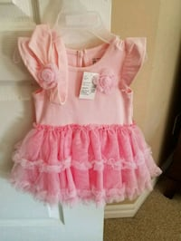 Brand new pink dress with matching band 3-6 mons Calgary, T3L 3C5