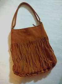 Authentic Sondra Roberts Genuine Leather Fringe Bag Toronto