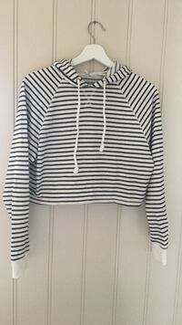 Stripete cropped hoodie Grimstad, 4877
