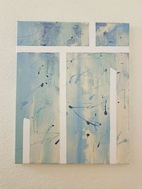 white and blue abstract painting Escondido, 92026