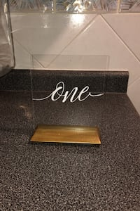 Acrylic table numbers 1-21 Vaughan, L4L 1A5