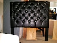 Black queen size leather tufted headboard with met High Point, 27263