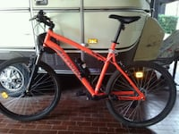 mountain bike arancione fluorescente nera hardtail 6776 km