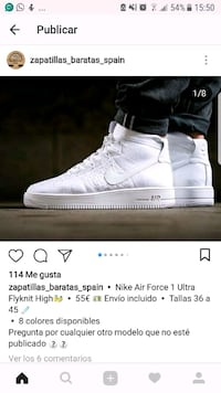 par de pantalla blanca de Nike Air Force 1's Ultra