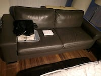 black leather 2-seat sofa Port Moody, V3H 1J2