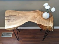 Live Edge Maple Hairpin Side Table
