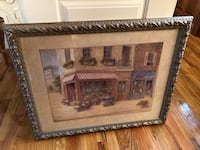 Brown wooden framed painting of house Rome, 13440
