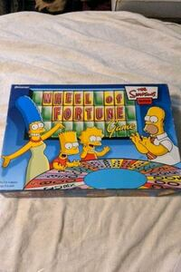 Wheel Of Fortune Game The Simpsons Edition Pressman 2004 Complete Game