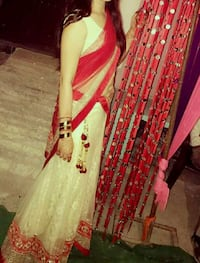 women's white and red sari dress Dehradun, 248001