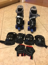 Boys adjustable skates with protection pads  Falls Church, 22043