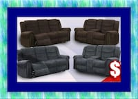 Grey or chocolate recliner set free delivery Ashburn, 20147