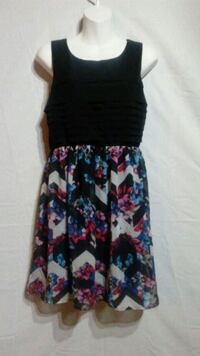 Black, pink, and blue floral sleeveless dress Oklahoma City