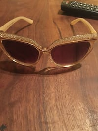 brown framed sunglasses