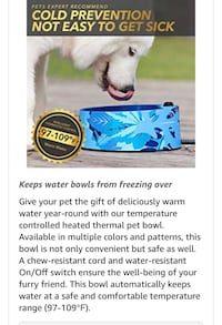 Thermal water bowl *Brand New in package* Hertford, 27944