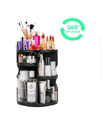 360° rotation make-up organizer