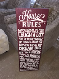 House Rules Wall Art