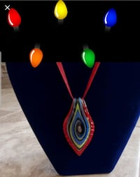 Handcrafted glass necklaces