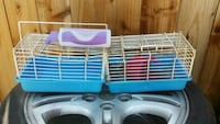 white and blue plastic pet cage Guadalupe