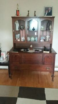Antique tea hutch