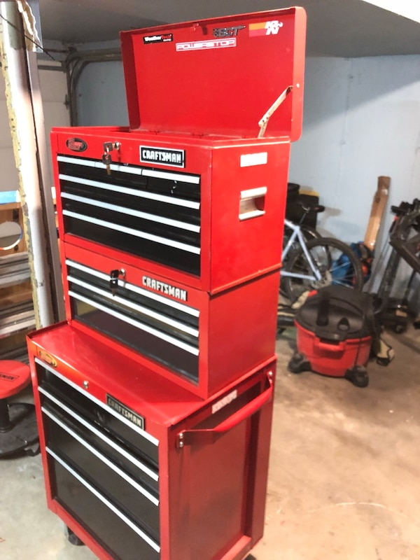 "Craftsman 26"" 13 drawer tool chest combo"