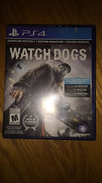 Watch Dogs PS4 game case Guelph, N1G 1H2