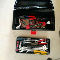 red and black spirit level, pliers, wrenches Edmonton, T5H 4H3