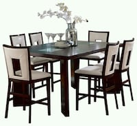 rectangular brown wooden table with six chairs dining set New Bedford, 02745