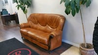brown leather tufted sofa chair Queens