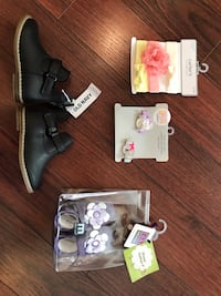Baby/toddler girls old navy boots size 6(new), headbands/clips(new), Melton purple shoes size 0-6m(new) Langley, V2Y 0C6